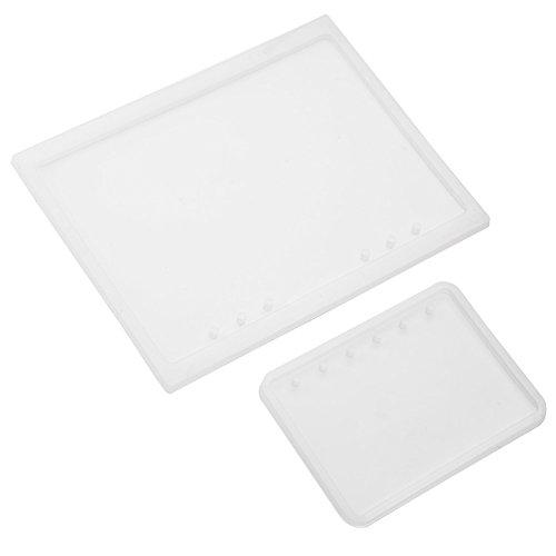 Tyenaza 2 unids/Set A5 A7 Forma de Cuaderno de Silicona para Hacer Manualidades Molde Semi Transparente para DIY Resina epoxi Cubierta de Bloc de Notas de Cristal