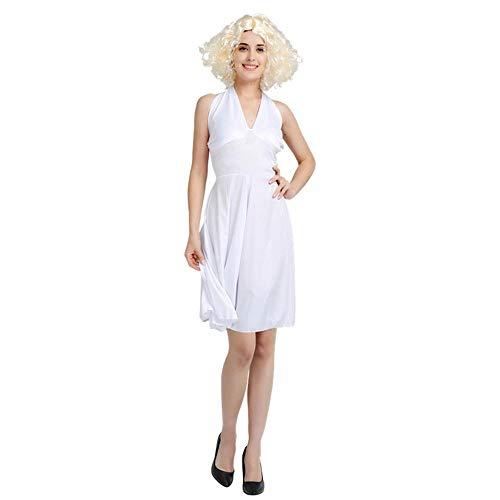 SVFD Disfraz de Halloween Vestido de Marilyn Monroe Ropa siamesa Que imita el Rendimiento B