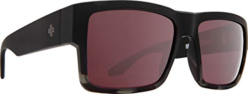 Spy Optic Cyrus   Flat Sunglasses (Matte Black/Smoke Tort Fade - Happy Rose with Silver Spectra Mirror)