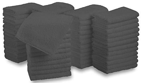 Westlane Linens Waschlappen aus 100% Baumwolle 24 Stück Waschlappen & Waschlappen super weiche Hotelqualität (24, 30x30 dunkelgrau)