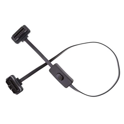 Futheda OBD 2 Kabel 16 Pin Stecker auf Buchse OBD-II//EOBD rechtwinklig Diagnoseger/ät OBD2 Adapter Verl/ängerungskabel mit Netzschalter kompatibel mit Auto Motor