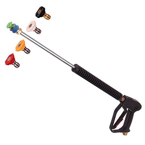 Hochdruck Pistole Lanze Düse 5x Düsen mit verschiedenen Winkeln für Hochdruckreiniger Kärcher Kranzle M22 Gewinde Beste für die Autowäsche