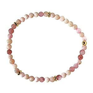 Andenopal pink Stretch Armband
