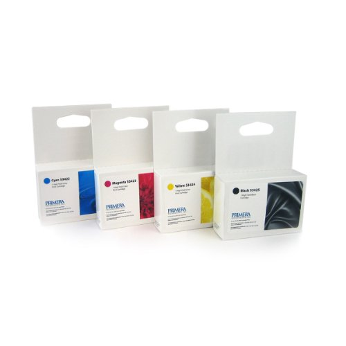 Primera High Yield Ink Cartridge Set (53422 Cyan, 53423 Magenta, 53424 Yellow, 53425 Black) for LX900