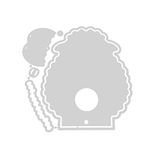 DUESI Linda ovejas Lollipop Caja de corte de acero al carbono Dies DIY Scrapbooking álbum de fotos grabado tarjetas de papel haciendo plantilla tarjetas decorativas bordes artesanía accesorios