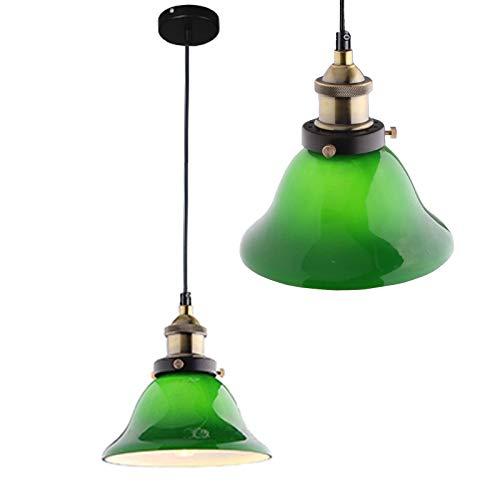 Industrieller Retro lampen Kronleuchter aus grünem Glas Kreative Dekoration Lampenschirm für Bar Restaurant Küche-19,5CM