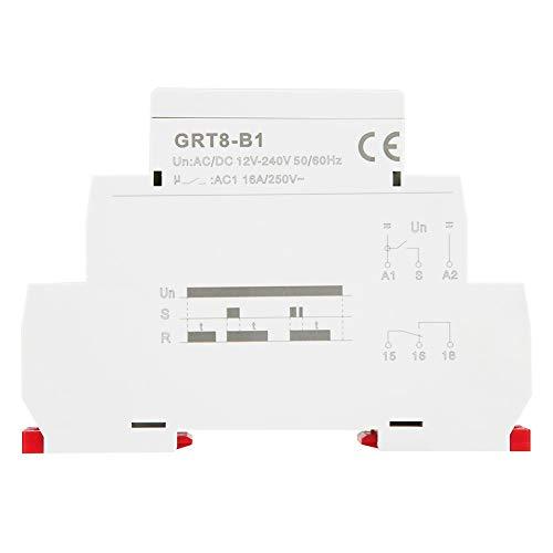 GRT8-B1 Mini-Zeitrelais for Ausschaltverzögerung, DIN-Schienen-Zeitrelais Typ AC/DC for Industrieausrüstung 12V ~ 240V