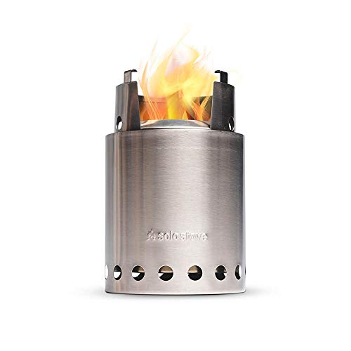 Product Image 1: Solo Stove Titan – 2-4 Person Lightweight Wood Burning Stove. Compact Camp Stove Kit for Backpacking, Camping, Survival. Burns Twigs – No Batteries or Liquid Fuel Canisters Needed.