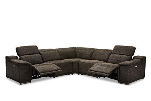 Canapé d'angle 3 places Noir Tissu Design Confort