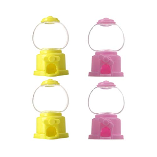 TOYANDONA 4 Piezas Máquina de Chicles Dispensador de Dulces para Niños Dispensador de Chicle Favores de Dulces de Boda para Cumpleaños Favores de Fiesta para Niños