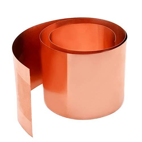YHcXm Lámina de Cobre Puro Metal Hoja de Cobre Placa Guillotina Material...