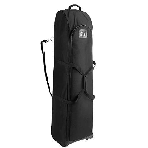 Golf Flight Coverall Travel Bag Golf Durable Skid Resist Travel Cover Padded Golf Bag Travel Cover Lightweight Foldable Golf Travel Cover (Color : Black)