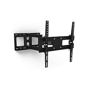 Soporte de pared para TV Samsung de 32-65 pulgadas negro, soporte para TV giratorio fácil de instalar, colgar TV y ajustable al televisor, soporte para televisor de pared