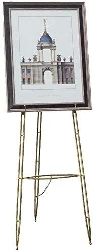 H.ZHOU Staffelei Schmiedeeisen Öl, Stand Ausstellung for Fotorahmen Plakat Plakatwand Poster for Den Innen Ausstellung Vielseitig Einsetzbar (Color : Gold, Size : 50cm*155cm)