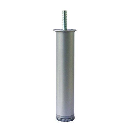 Home System 674204 Möbelfuß aus Metall, rund, für Federholzrahmen, Durchmesser 40mm, Höhe 20cm. Grau.