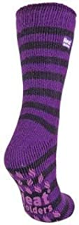 Heat Holders - Womens Non Slip Winter Warm Thermal Indoor Gripper Slipper Socks