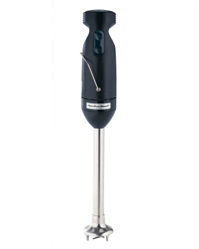 "Hamilton Beach Commercial HMI200 Immersion Blender Mixer, 175W, 2 Speeds, Detachable 9"" Chopping/Mixing Shaft, 17.74"" H, 3.15"" W, 2.57"" L, Black,Medium"