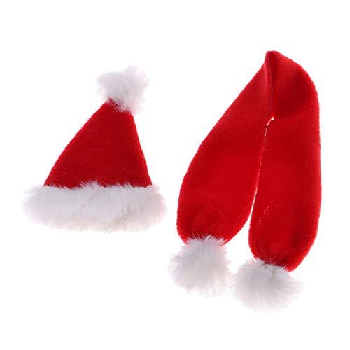 freneci 1/6 Accesorios de Sombrero de Bufanda de Papá Noel Navideño Femenino para DML BBI Hizo