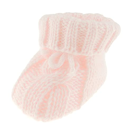Chaussons confortables en coton épais pour bébé garçon - Rose - rose bébé, Taille unique
