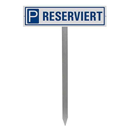 Parkplatzschild Reserviert mit Einschlagspieß und Schildhalterung | Ofform Design Nr.35437