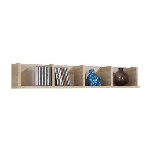 FMD furniture Wandregal, Holz, Eiche, 92 x 17 x 17 cm