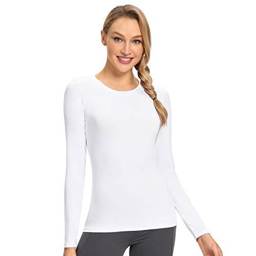 Starlemon - Camiseta de manga larga con protección solar para mujer (secado rápido), Blanco, XL