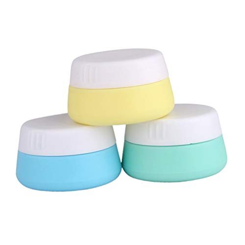 EXCEART 3 Pcs 20 Ml Pots de Crème en Silicone Accessoires de Voyage Conteneurs pour Le Visage Main Crème pour Le Corps (Couleur Mélangée)
