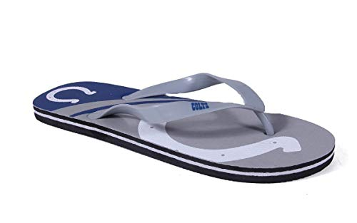 ICOBLG2-1 - Indianapolis Colts- Small - Officially Licensed NFL Big Logo Flip Flops - Happy Feet and Comfy Feet