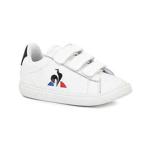 Le Coq Sportif Jungen Unisex Kinder Courtset Inf Optical White Sneaker, Optisches Weiß, 24 EU
