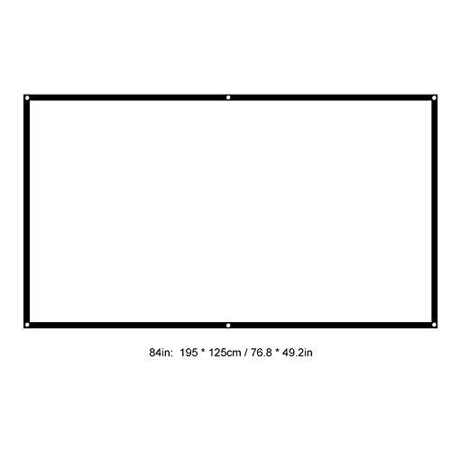 vbestlife 60 – 100 pulgadas 16: 9 HD Proyector de pantalla 3d película Portable de la pantalla cortinas, adecuado para cine en casa película, entrenamiento Aula, Sala presentación, Públicas Mostrar