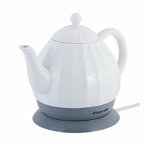 1,2L Keramik Wasserkocher Elektrisch Teekanne Wasserkessel Kettle Tea Schnellkochkessel Teekocher Servierkanne
