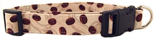 K9 Bytes Coffee Beans & Cream Dog Collar, Medium