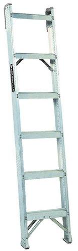 Louisville Ladder AH1007 300-Pound Duty Rating Aluminum Shelf Ladder, 7-Foot