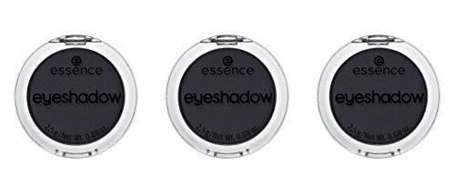 essence eyeshadow, Lidschatten, Nr. 04 soul, schwarz, matt, farbintensiv, intensiv, vegan, entspricht unserem CLEAN BEAUTY Standard, ohne Parfüm, 3er Pack (3 x 2,5g)