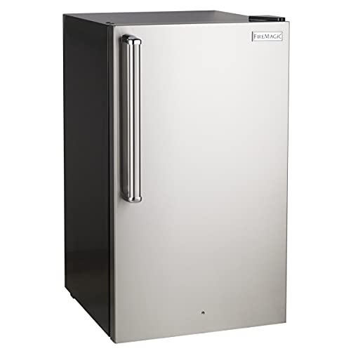 Fire Magic 20-Inch 4.0 Cu. Ft. Premium Right Hinge Compact Refrigerator - Stainless Steel Door/Black Cabinet - 3598-DR