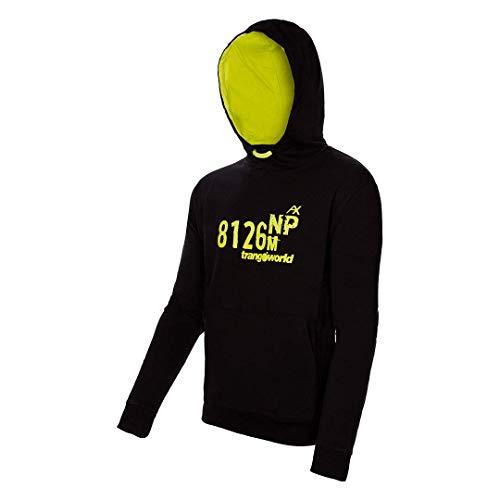 Trangoworld NP-Top 8126 Sweat, Homme XXXL Noir/Citron Vert