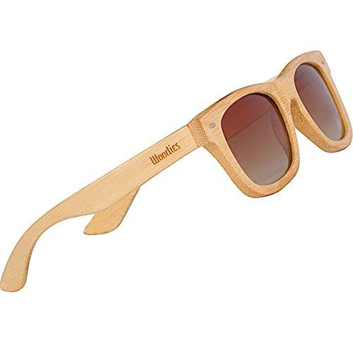 WOODIES Polarized Light Grain Full Wood Sunglasses for Men and Women  ...