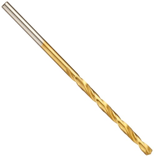 Chicago Latrobe 150ASP-TN High-Speed Steel Jobber Length Drill Bit, TiN Coated, Round Shank, 135 Degree Split Point, 7/16