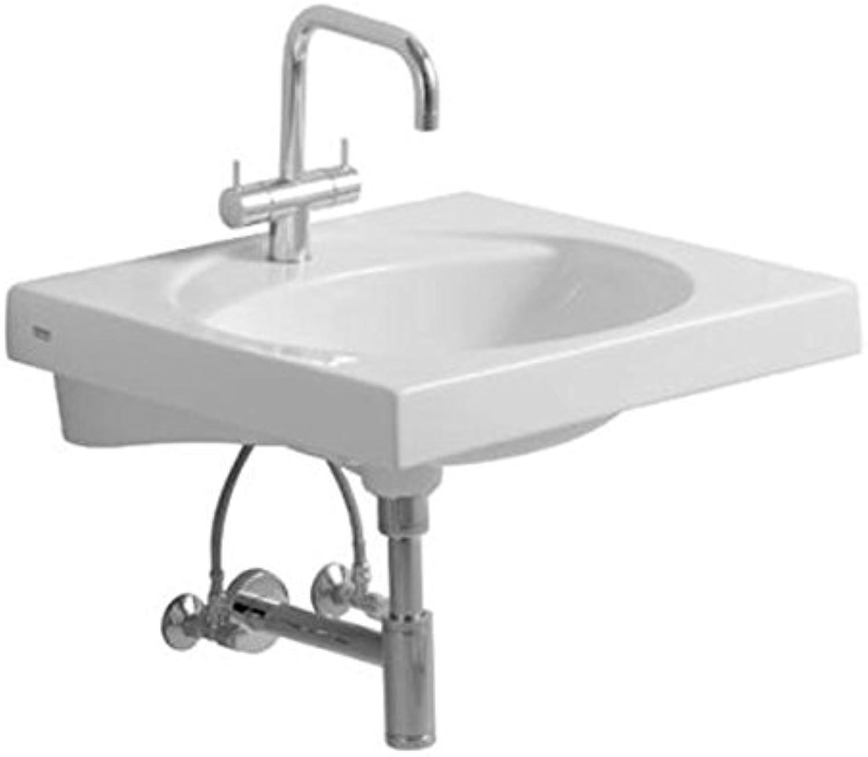 Keramag Waschbecken Preciosa 253230, 60x55cm wei(alpin) mit Hahnloch,ohne überlauf, 253230000