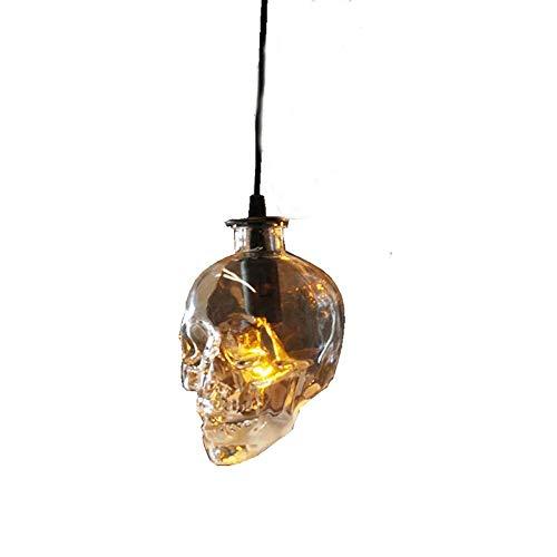 Lámpara colgante de calavera creativa de Halloween Decoración de estilo retro europeo Luces colgantes Restaurante comercial Bar Club Lámpara de techo de calavera Accesorio de iluminación interior iDWX