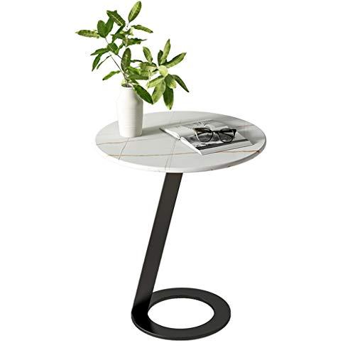 LIYIN-Wall Clock Kreativität Runder Wohnzimmer Beistelltisch Multifunktionaler Lounge-Couchtisch mit gesinterter Steinplatte, robust und stabil