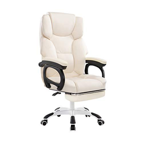 Massage Chair, comfortabele zachte Stoel PU gemakkelijk te reinigen stoel stoelen Office Chair Computer Stoel Conference Chair E-sports Chair (Color : White)