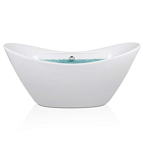 AKDY F210 Bathroom White Color Free Standing Acrylic Bathtub
