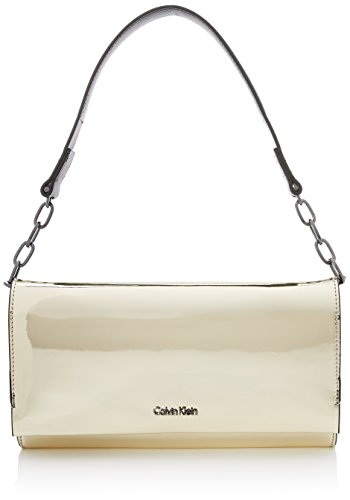 Calvin Klein Damen Instant Clutch On Chain Metalic, Gold (Light Gold), 5x14x27 cm