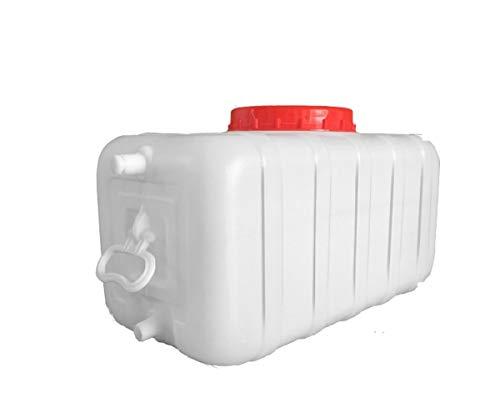 Contenedor de agua portátil para coche, Bidón Plástico Con Grifo Depósito De Agua Gran Capacidad Almacenamiento De Agua Contenedor De Agua Con Tapa Barril De Agua Mineral Agua Pura Cámping Tanque De A