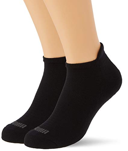 PUMA Womens Women's Sneaker-Trainer (2 Pack) Socks, Black, 35/38