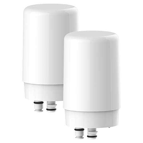 Waterdrop Faucet Filter Cartridges, Compatible with Brita 36311 On Tap Water Filtration System Replacement Filters (Pack of 2)