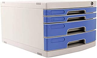 Classeurs avec fichier de Verrouillage Armoire de Rangement de Bureau Cabinet 4 Couches en Plastique Plat Tiroir UOMUN