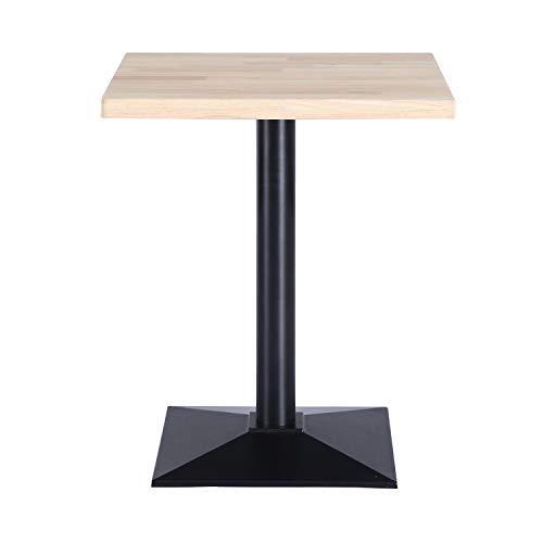 Adec Group Moss, Mesa de Cocina, Comedor, Mesa Contract, Color Roble Salvaje y Negro, Medidas: 70 cm (Largo) x 70 cm (Ancho) x 72 cm (Alto)