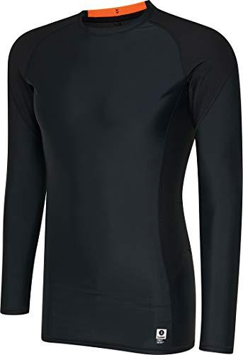 hummel Compresión Malla–First Compression LS tee–Camiseta Larga Hombre de Entrenamiento con Gran Comodidad.–Fitness Camiseta Transpirable–Negro, Hombre, Color Negro, tamaño Small